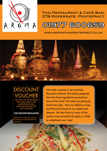 Ben waller freelance web and print designer west for Aroma thai cuisine